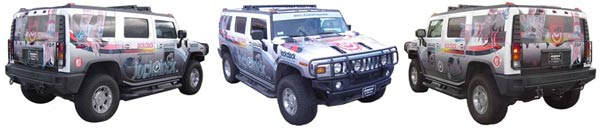 vehicle wrap hummers