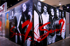 Seven7 Clothing Booth Graphics