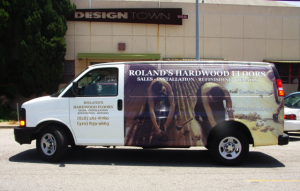 Van Wrap with Cut Vinyl Lettering