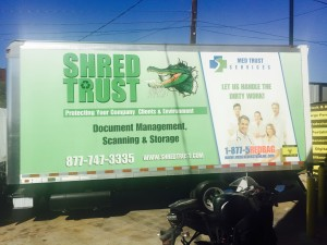 Shred Trust Vehicle Wrap Side