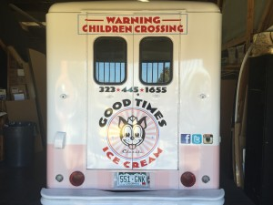 Good Times Ice Cream Truck Vehicle Wrap Back