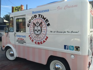 Good Times Ice Cream Truck Vehicle Wrap Driver