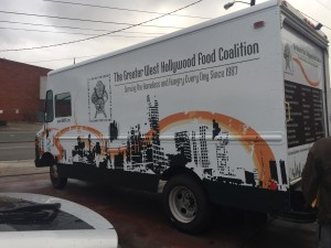 Greater West Hollywood Food Coalition Vehicle Wrap Back Side Angle