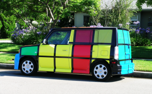 Rubik's Cube Scion Vehicle Wrap