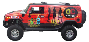 OC Energy Drink Hummer Vehicle Wrap